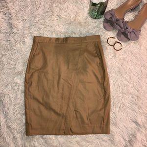 Tan pencil skirt